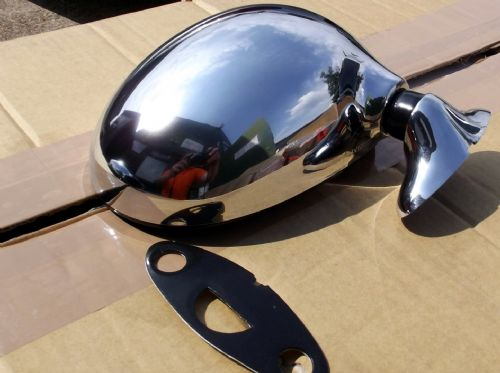 Door Mirror, Mazda MX-5 mk1, r/h, chrome, right hand, NEW